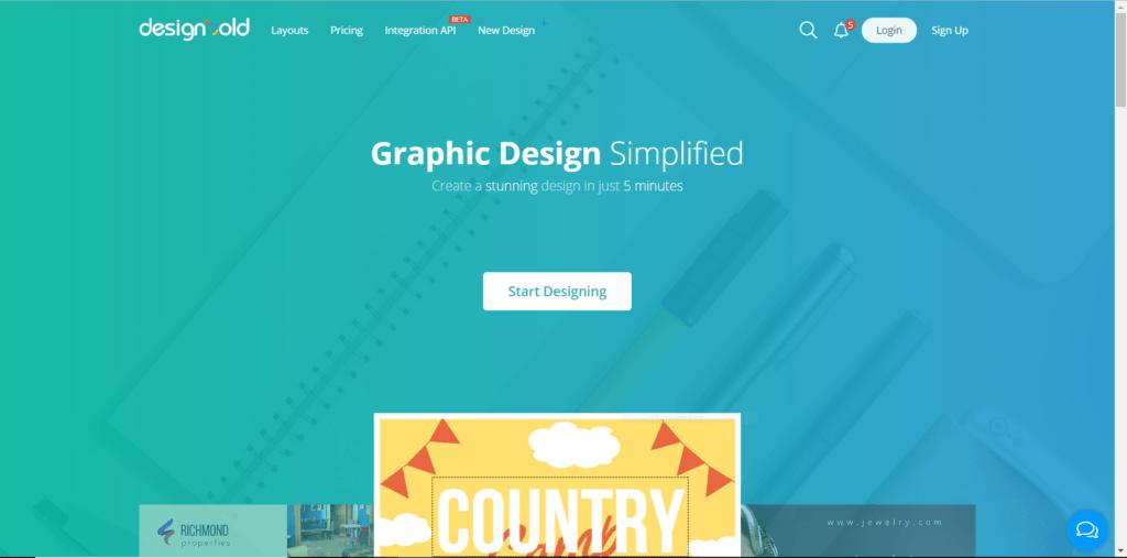 Designbold outil de création graphique