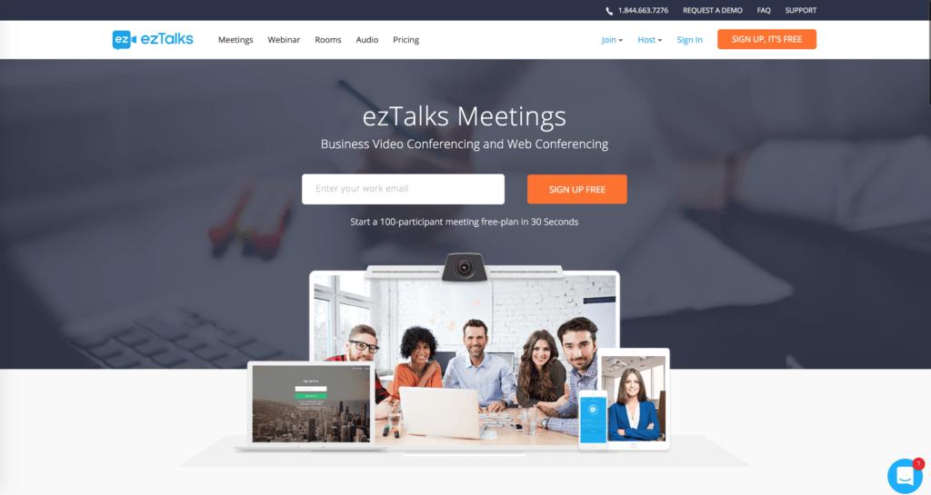 Outil gratuit pour webinar EzTalks