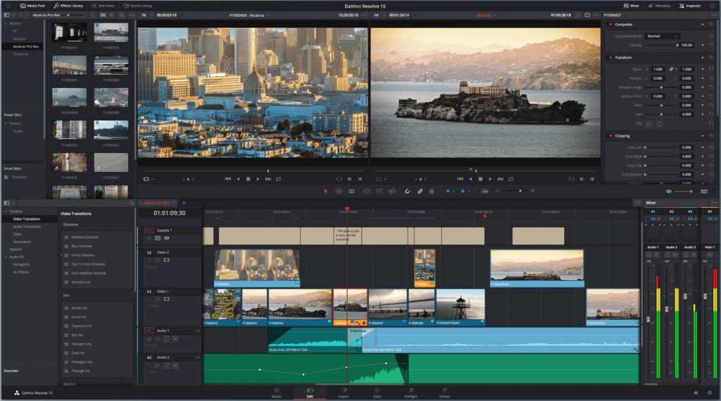 Da Vinci Resolve, logiciel gratuit d'édition de video