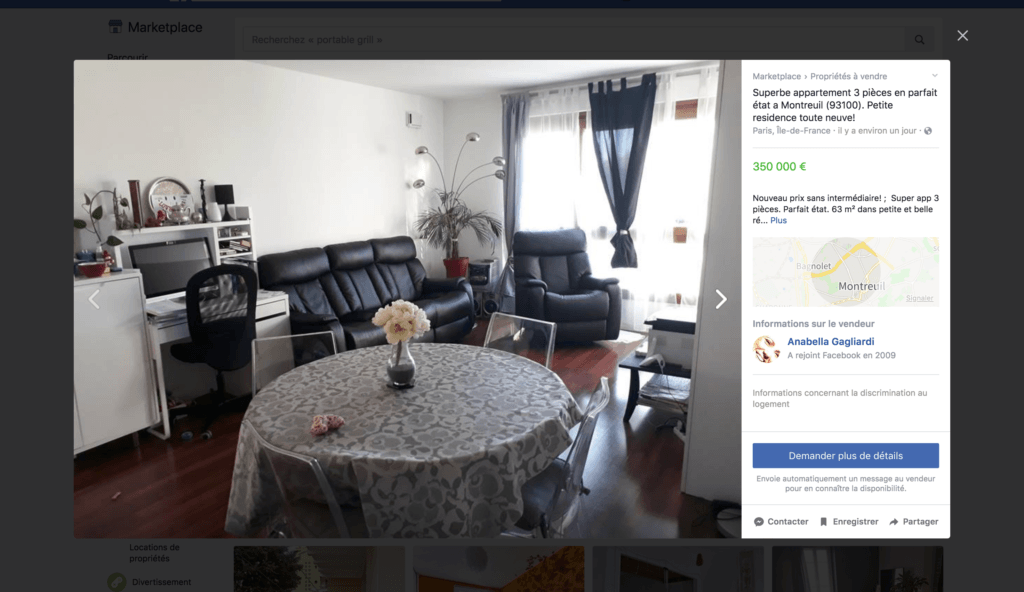 nce immobiliere sur Facebook Marketplace