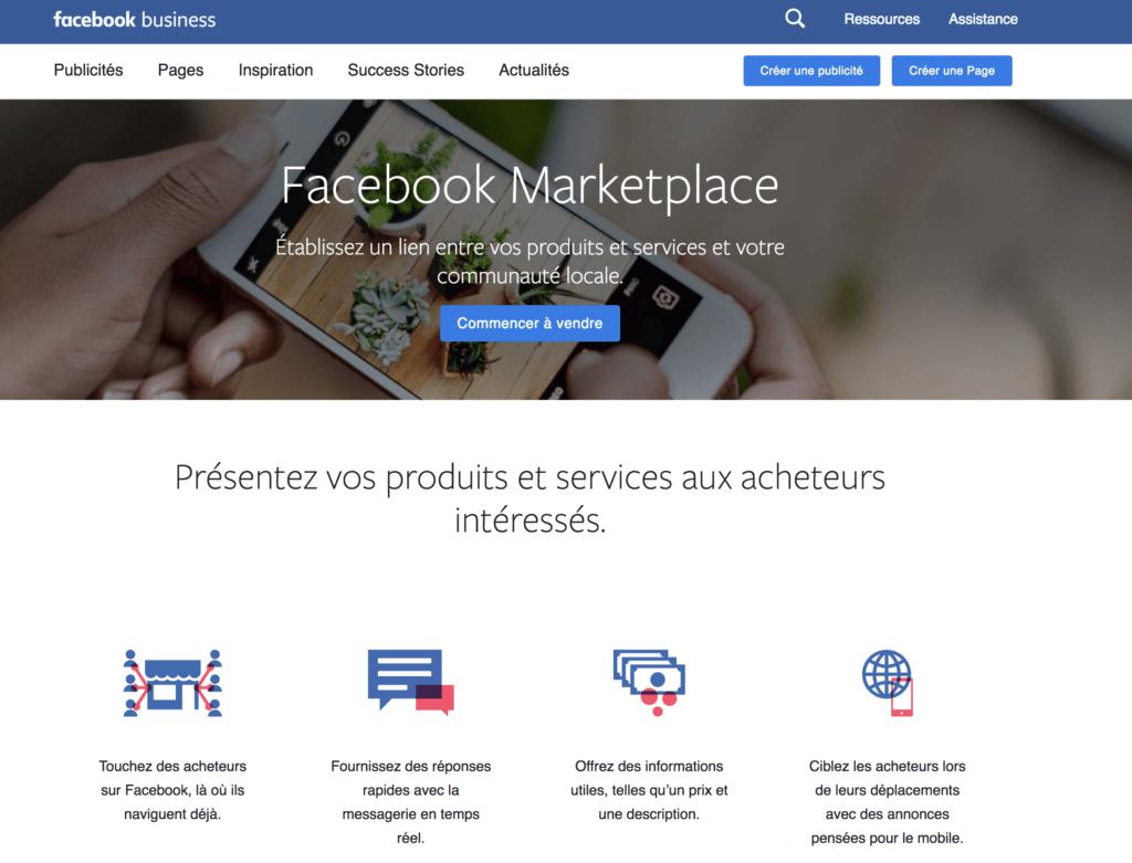 Facebook Marketplace pour l'immobilier